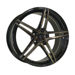 Vissol Forged F-1116 GLOSS-BLACK-WITH-DARK-MACHINED-FACE
