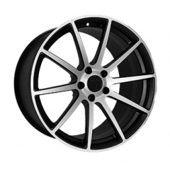 Vissol Forged F-190 MATTE-BLACK-WITH-MACHINED-FACE