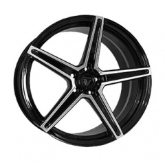 Vissol Forged F-505 GLOSS-BLACK-WITH-MACHINED-FACE